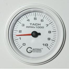4750 3 3/8 ELECTRIC TACHOMETER 0-10000 RPM WHITE