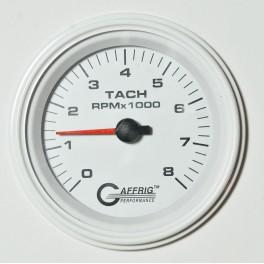 4754 3 3/8 ELECTRIC TACHOMETER 0-8000 RPM WHITE