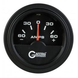 5000 2 ELECTRIC AMMETER -60/+60 AMP Black