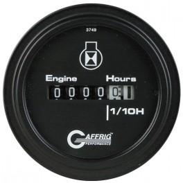 5010 2 ELECTRIC ENGINE HOUR METER Black