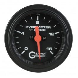 5024 2 ELECTRIC PYROMETER 0-1600 F Black