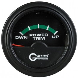 5026 2 ELECTRIC TRIM METER MERCURY Black