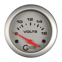 11005 2 5/8 ELECTRIC VOLTMETER 8-16V Platinum