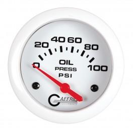 13002 2 5/8 ELECTRIC OIL PRESSURE 0-100 PSI - INCLUDES SENDER White