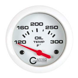 13003 2 5/8 ELECTRIC OIL TEMP 100-300 F - INCLUDES SENDER & BUSHING KIT White