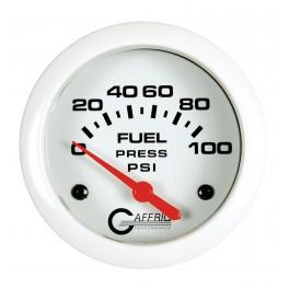 13008 2 5/8 ELECTRIC FUEL PRESSURE 0-100 PSI - INCLUDES SENDER White