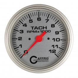 10021 4 5/8 ELECTRIC TACHOMETER 0-12000 RPM PLATINUM
