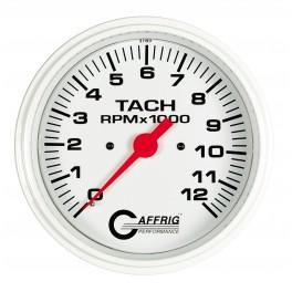 10022 4 5/8 ELECTRIC TACHOMETER 0-12000 RPM WHITE