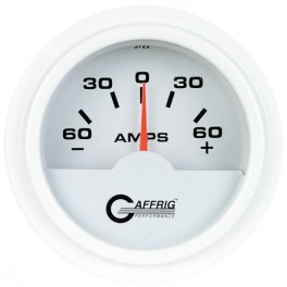 5500 2 ELECTRIC AMMETER -60/+60 AMP White
