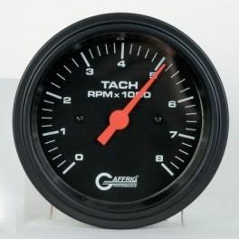 4254 3 3/8 ELECTRIC TACHOMETER 0-8000 RPM BLACK