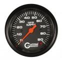 4023 3 3/8 GPS ANALOG 90 MPH SPEEDOMETER KIT BLACK