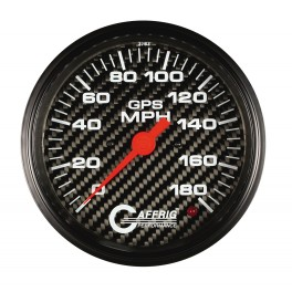 4051 4 5/8 GPS ANALOG 180 MPH SPEEDOMETER HEAD ONLY CARBON FIBER