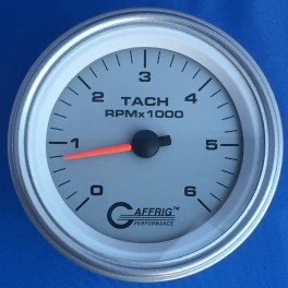 4753 3 3/8 ELECTRIC TACHOMETER 0-6000 RPM PLATINUM