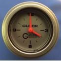 """5854 2"""" ELECTRIC CLOCK PLATINUM"""
