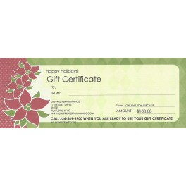 GAFFRIG PERFORMANCE $100.00 GIFT CERTIFICATE