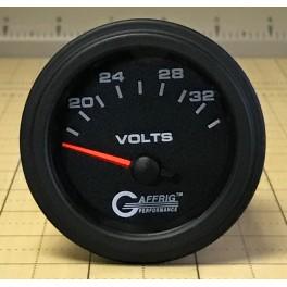 5036 2 ELECTRIC VOLTMETER 16-32 VOLT Black