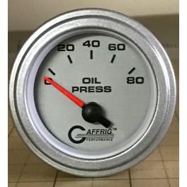 """5816 2"""" ELECTRIC OIL PRESSURE 0-80 PSI PLATINUM"""