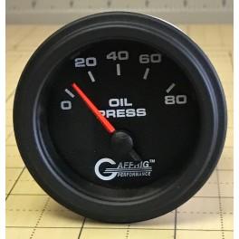 5016 2 ELECTRIC OIL PRESSURE 0-80 PSI Black
