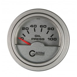 "5812 2"" ELECTRIC OIL PRESSURE 0-100 PSI PLATINUM"