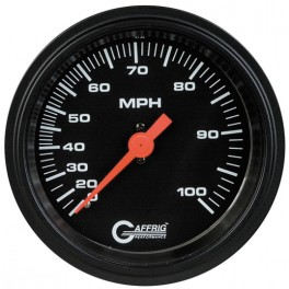 4006 3 3/8 MECHANICAL DRY SPEEDOMETER 100 MPH BLACK