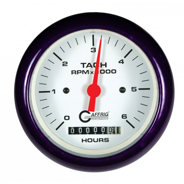 White Hour Meter : Electric tach hour meter rpm