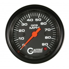 4027 3 3/8 GPS ANALOG 160 MPH SPEEDOMETER HEAD ONLY BLACK