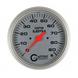 4047 4 5/8 GPS ANALOG 90 MPH SPEEDOMETER HEAD ONLY CARBON FIBER