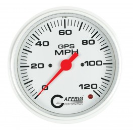 4541 4 5/8 GPS ANALOG 90 MPH SPEEDOMETER HEAD ONLY WHITE
