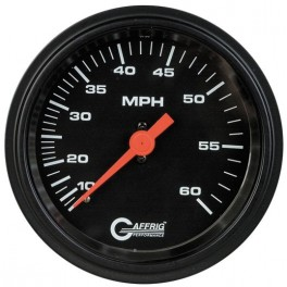 4000 3 3/8 MECHANICAL DRY SPEEDOMETER 45 MPH BLACK
