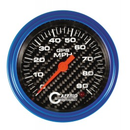 4053 3 3/8 GPS ANALOG 90 MPH SPEEDOMETER HEAD ONLY CARBON FIBER