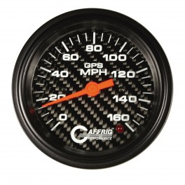 4055 3 3/8 GPS ANALOG 120 MPH SPEEDOMETER HEAD ONLY CARBON FIBER