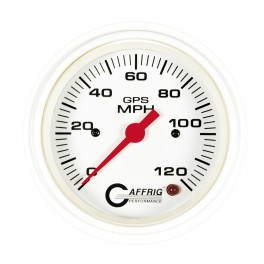 4522 3 3/8 GPS ANALOG 90 MPH SPEEDOMETER HEAD ONLY WHITE