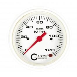 4523 3 3/8 GPS ANALOG 90 MPH SPEEDOMETER KIT WHITE
