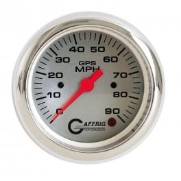 4553 3 3/8 GPS ANALOG 90 MPH SPEEDOMETER HEAD ONLY PLATINUM