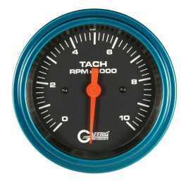 4250 3 3/8 ELECTRIC TACHOMETER 0-10000 RPM BLACK