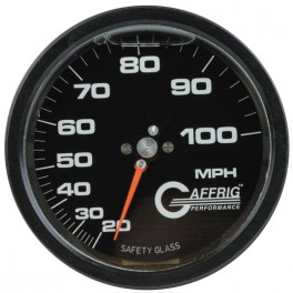4100 4 80 MPH LIQUID FILLED SPEEDOMETER HEAD BLACK