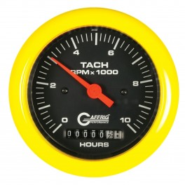 4256 3 3/8 ELECTRIC TACH/HOUR METER 0-10000 RPM BLACK