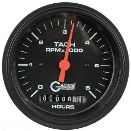 4258 3 3/8 ELECTRIC TACH/HOUR METER 0-6000 RPM BLACK
