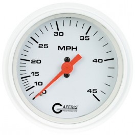 4500 3 3/8 MECHANICAL DRY SPEEDOMETER 45 MPH WHITE
