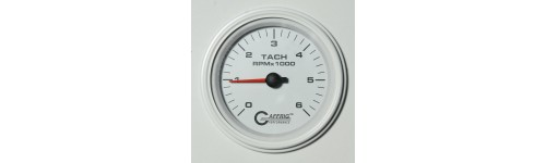 Tachometers and Tach/Hour Meters White