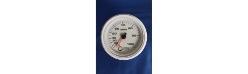 Dry Mechanical Speedometers White