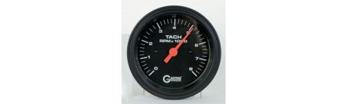 Tachometers and Tach/Hour Meters Black